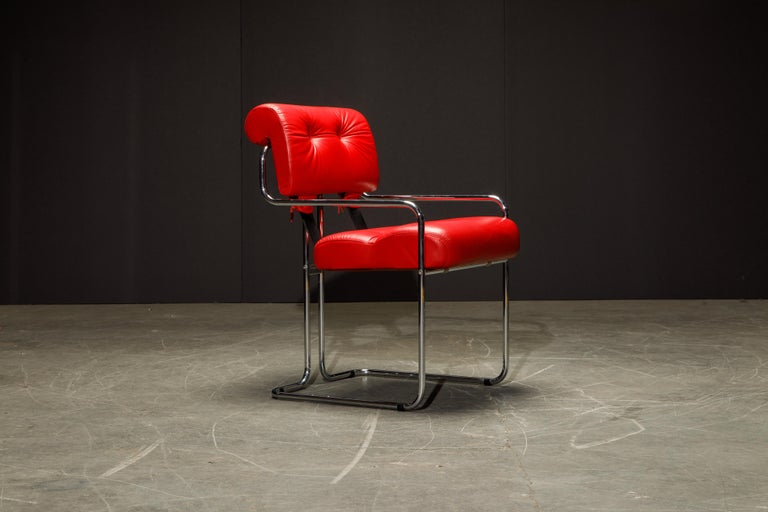 Leather 'Tucroma' Armchairs by Guido Faleschini for i4 Mariani, 1980s, Signed For Sale 4