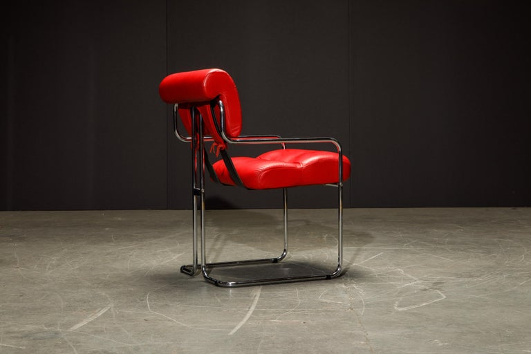 Leather 'Tucroma' Armchairs by Guido Faleschini for i4 Mariani, 1980s, Signed For Sale 5