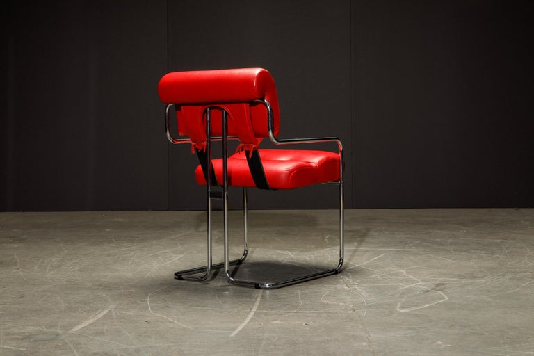 Leather 'Tucroma' Armchairs by Guido Faleschini for i4 Mariani, 1980s, Signed For Sale 6