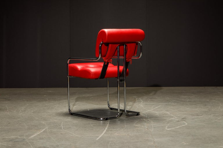 Leather 'Tucroma' Armchairs by Guido Faleschini for i4 Mariani, 1980s, Signed For Sale 7