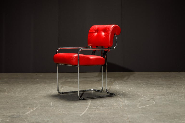 Leather 'Tucroma' Armchairs by Guido Faleschini for i4 Mariani, 1980s, Signed For Sale 8