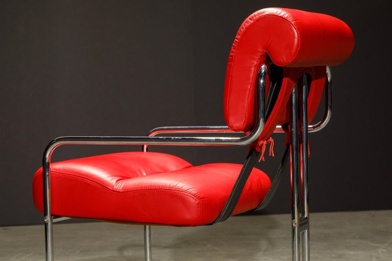 Leather 'Tucroma' Armchairs by Guido Faleschini for i4 Mariani, 1980s, Signed For Sale 14