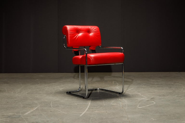 Leather 'Tucroma' Armchairs by Guido Faleschini for i4 Mariani, 1980s, Signed For Sale 3