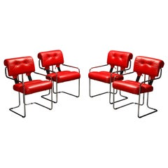 Leather 'Tucroma' Armchairs by Guido Faleschini for i4 Mariani, 1980s, Signed
