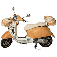 Leather Vespa Statue