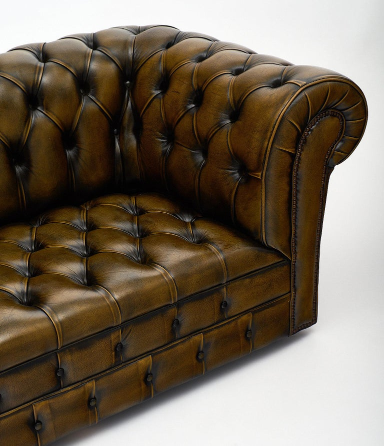 Sofas Used Sofas For Sale: Leather Vintage English Chesterfield Sofa For Sale At 1stdibs