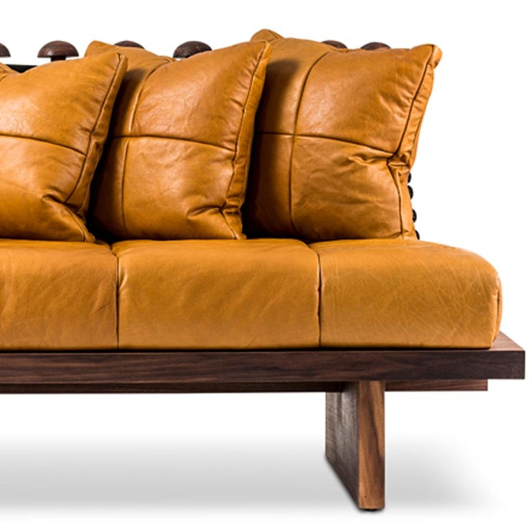 The Shaker sofa is part of the Primal collection designed by Egg Designs and manufactured in South Africa. This contemporary bespoke sofa was inspired by the abundance of weaving in South Africa, we asked ourselves how we could use it as a