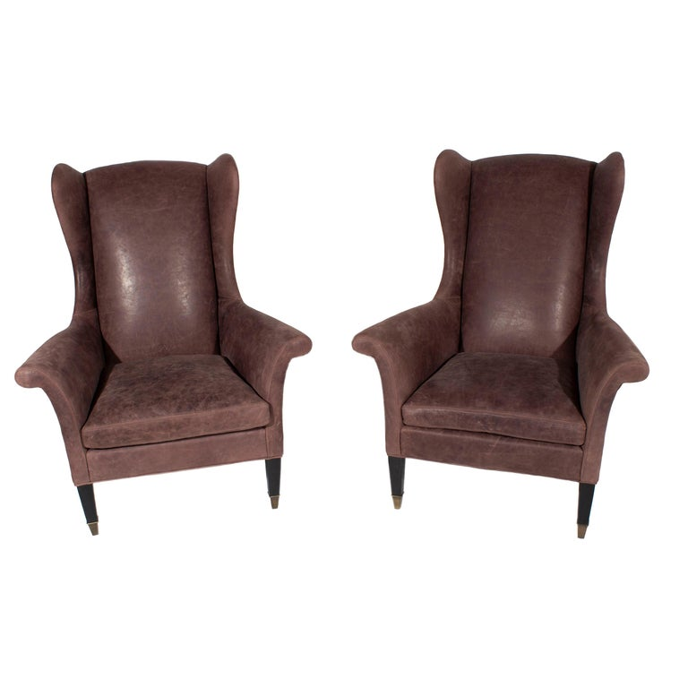 Leather Wing Back Executive Chair