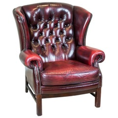Leather Wingback Armchair from the 1970s