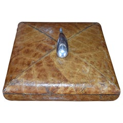 Leather Wrapped Lidded Jewelry Box