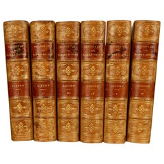 Leatherbound Set The Decline and Fall of the Roman Empire by Gibbons 6 Volumes