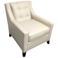 Leathercraft Style #112 White Leather Chair