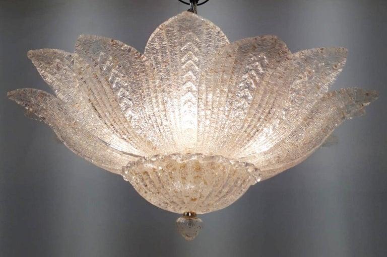 Mid-Century Modern Leaves Flushmount by Fabio Ltd For Sale