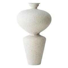 Lebes Hueso Stoneware Vase by Raquel Vidal and Pedro Paz