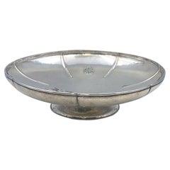 Lebolt & Co. Arts & Crafts Hammered Sterling Silver Compote Centerpiece Bowl