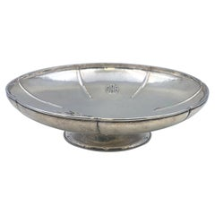 Lebolt & Co. Sterling Silver Hammered Centerpiece Bowl in Arts & Crafts Style