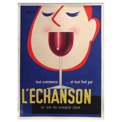 L'Echanson by Seguin 1955 Original Vintage Poster