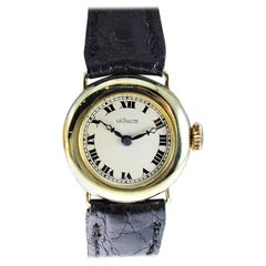LeCoultre 14 Karat Solid Gold Art Deco Ladies Wrist Watch, circa 1920s