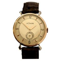 LeCoultre 1940s Steel and Rose Gold Mechanical Wristwatch