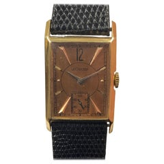 LeCoultre 1940s Yellow Gold Mechanical Wrist Watch