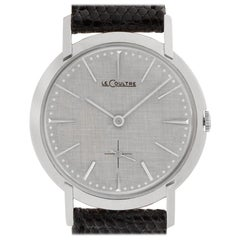 LeCoultre Classic 467220 14 Karat White Gold Silver Dial Manual Watch