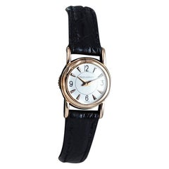 LeCoultre Ladies 18 Karat Rose Gold Back Wind Watch, circa 1950s