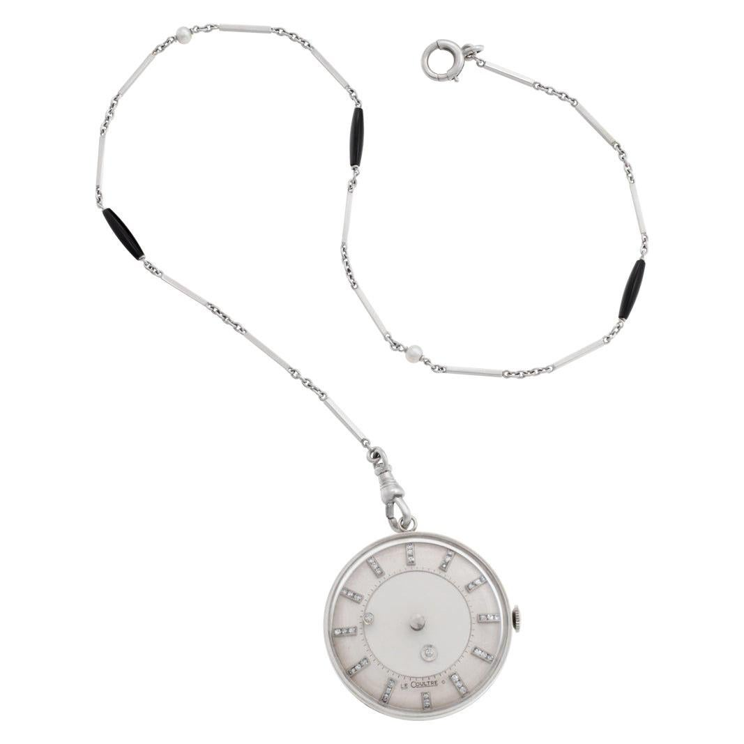 LeCoultre Mystery Pocketwatch 14k White Gold