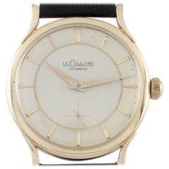LeCoultre Vintage 14 Karat Gold Automatic Watch with Leather Band Ref #P812