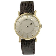 LeCoultre Vintage Yellow Gold Mystery Dial Wrist Watch