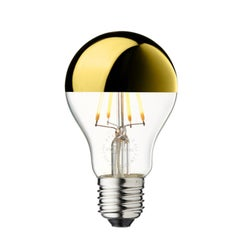 LED Arbitrary Bulb, Gold Mirror