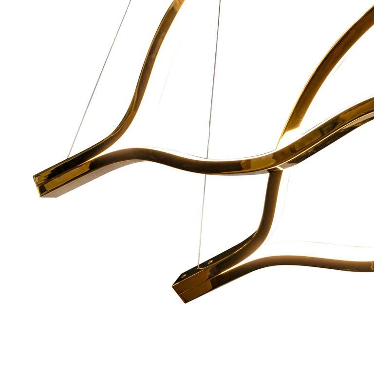Modern LED Belva Pendant For Sale