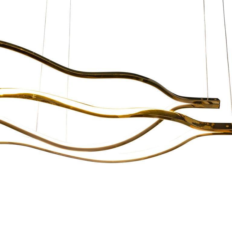 Plated LED Belva Pendant For Sale
