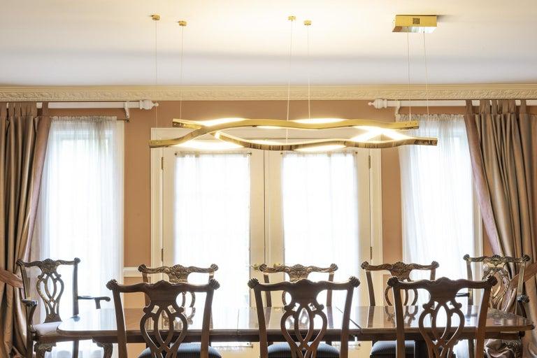 Stainless Steel LED Belva Pendant For Sale