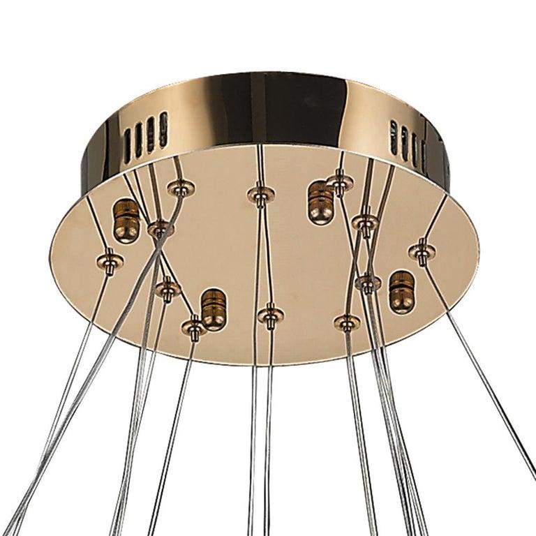 Led Swirl Six Ring Chandelier Pendant Light Contemporary: LED Swirl Four Ring Chandelier Pendant Light In Gold