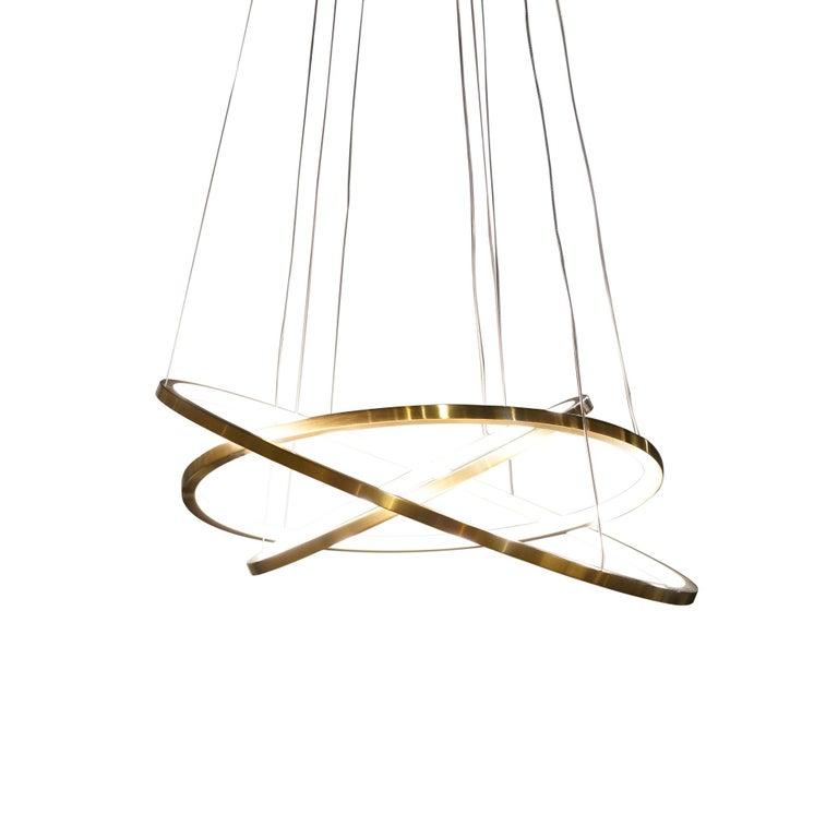 Modern LED Swirl Pendant 3 For Sale