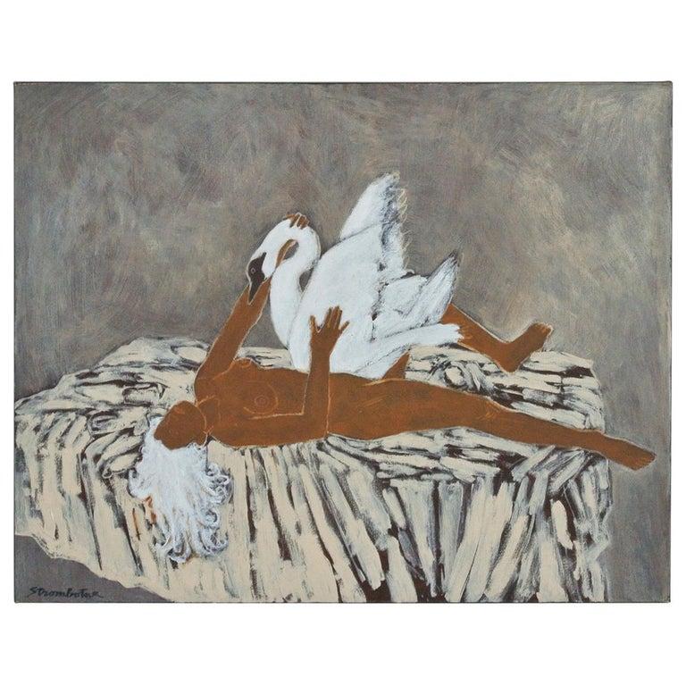 """Leda"" Painting by James Strombotne For Sale"