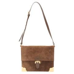 Lederer Brown Suede Shoulder Bag