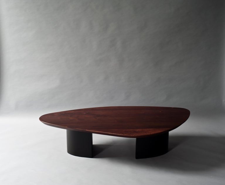 Ledge coffee table by DeMuro Das  Dimensions: W 80 x D 150 x H 35 cm Materials: Solid walnut - Matte  Lacquer (Grey Olive) - Matte   Dimensions and finishes can be customized.  DeMuro Das is an international design firm and the aesthetic and