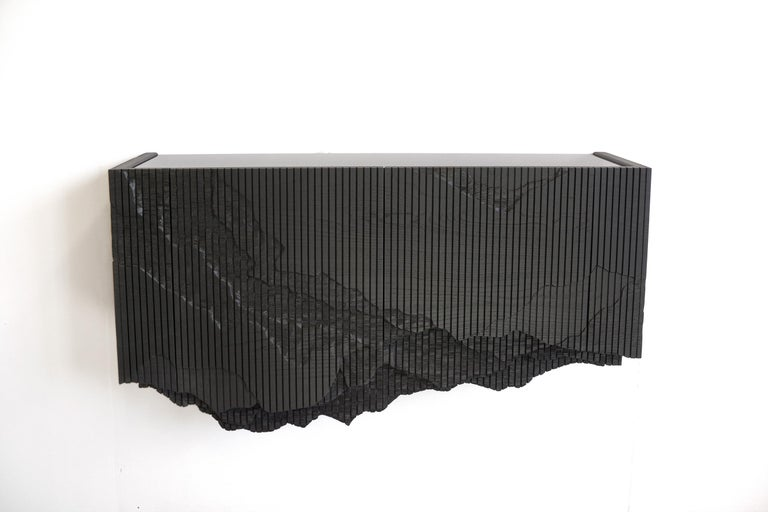 Modern Ledge Console in Black, Floating, by Simon Johns For Sale