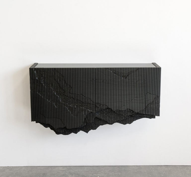 Canadian Ledge Console in Black, Floating, by Simon Johns For Sale