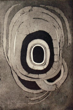 """Etching One"" Lee Bontecou 1960s Rare Edition Print"