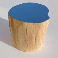 Mirrored Oak Log (10): Sculptural floor installation piece by Lee Borthwick