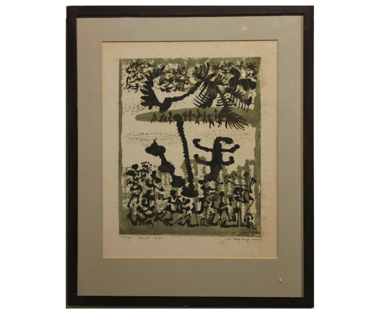 "Lee Hang-Sung Abstract Print - ""Purity"" Abstract Lithograph Edition 70 of 100"