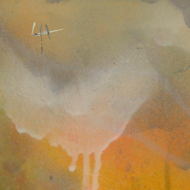 Thunderous Glow - Original Textural Floral Artwork For Sale 7