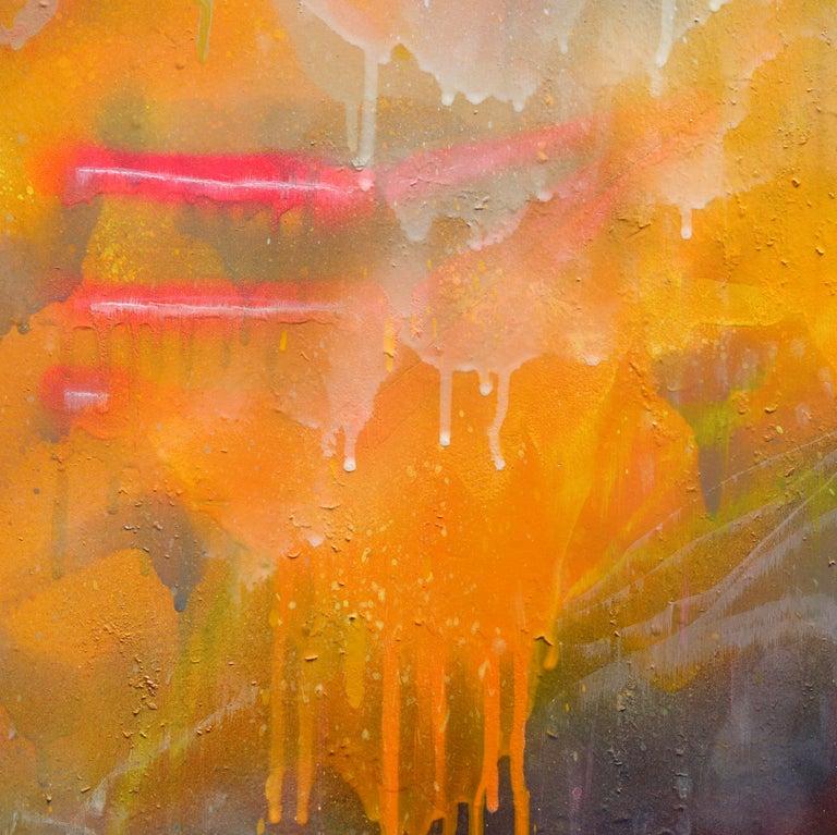 Thunderous Glow - Original Textural Floral Artwork For Sale 4