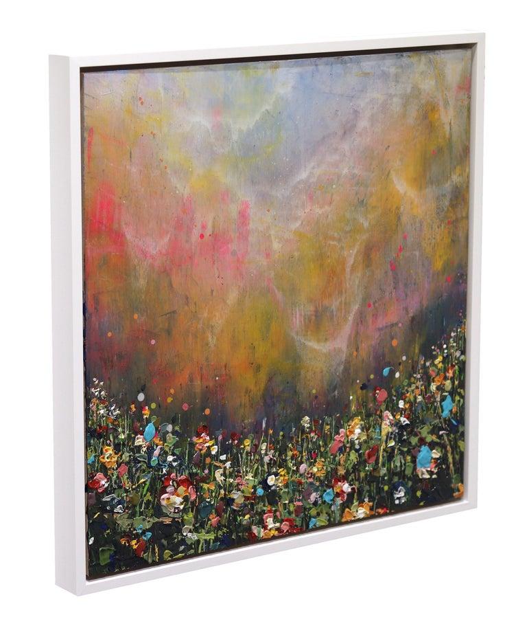Clouds Sweep - Brown Landscape Painting by Lee Herring
