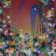Lee Herring, Floral Delight, Abstract Mixed Media Painting