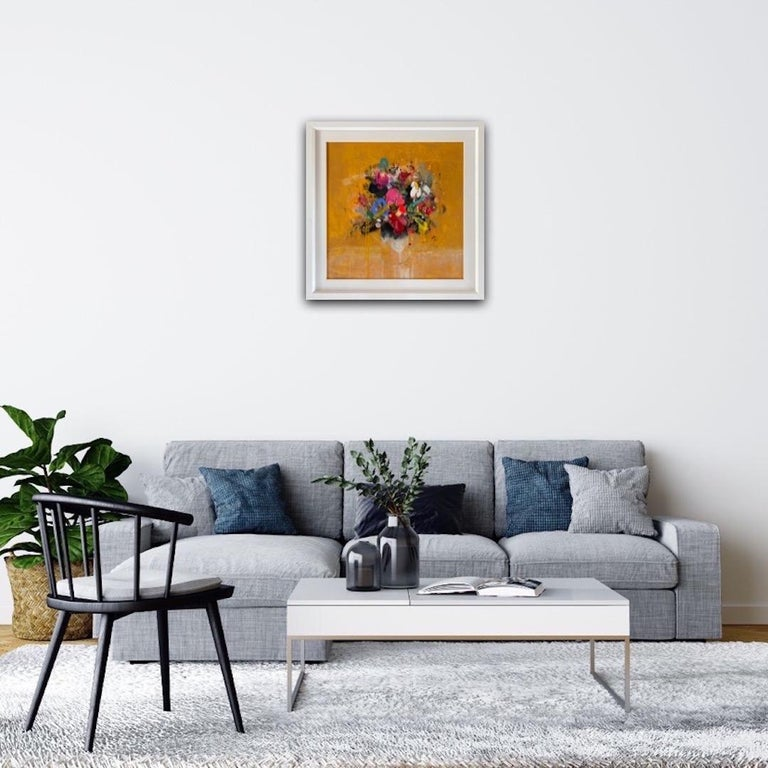 Lee Herring, Golden Light Original, Abstract Still Life Painting, Affordable Art For Sale 3
