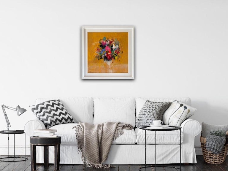 Lee Herring, Golden Light Original, Abstract Still Life Painting, Affordable Art For Sale 5