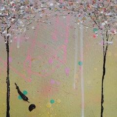 Pastel Lemon II, Lee Herring, Contemporary Textured Landscape Painting